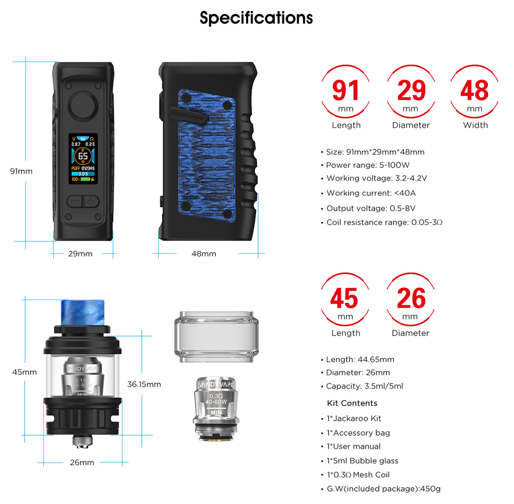 Vandy Vape JACKAROO Parameters Package