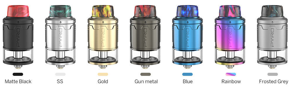 Vandy Vape Pyro V3 RDTA Colors