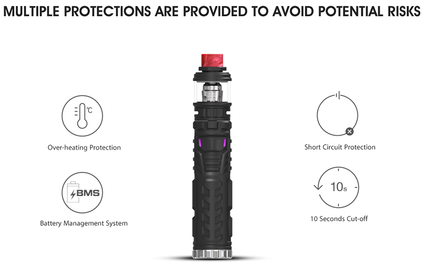 Vandy Vape Trident 100W Kit Protections