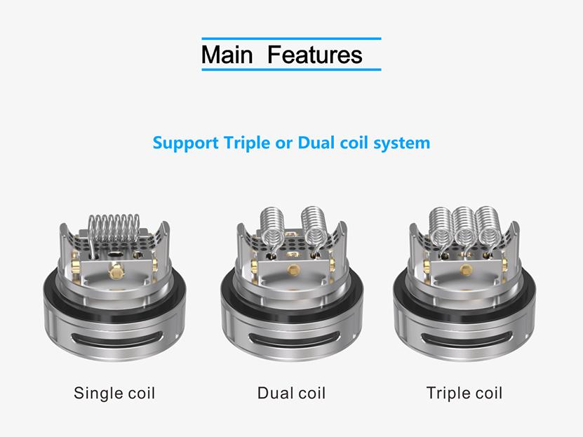Triple 2 Rebuildable Tank Atomizer Coils