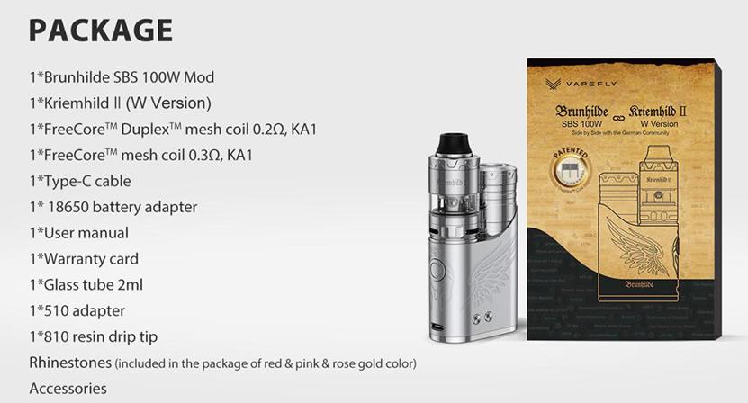 Vapefly Brunhilde SBS Kit Package