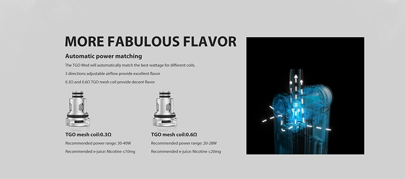 Vapefly TGO Replacement Mesh Coil Features