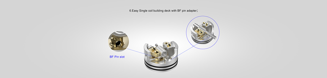 Vapefly Galaxies MTL RDA BF Pin Slot