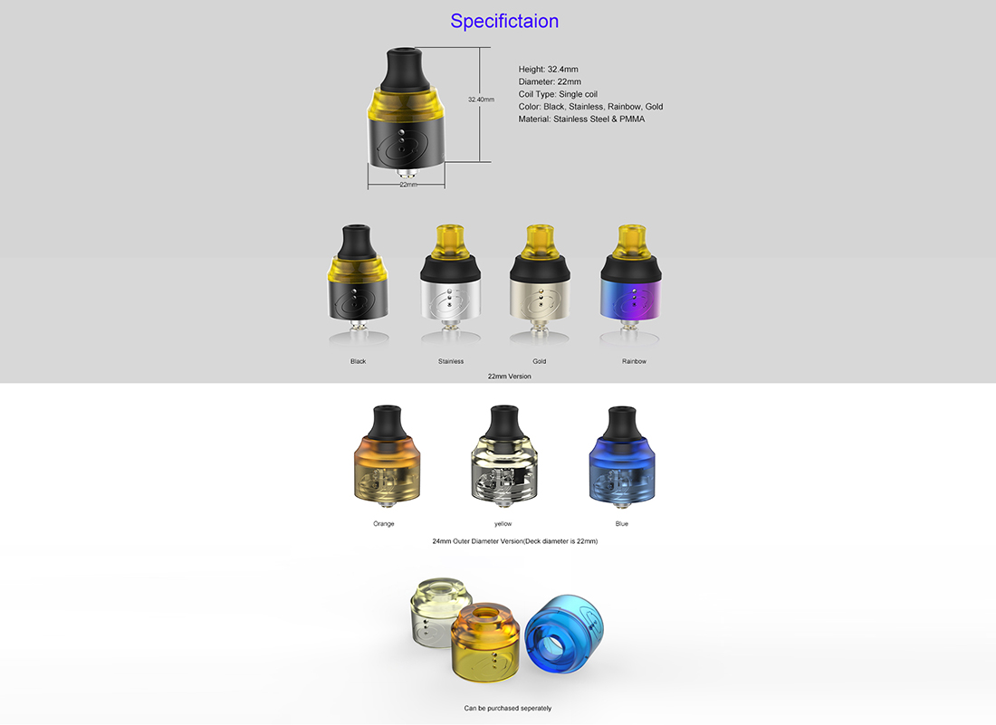 Vapefly Galaxies MTL RDA Specification