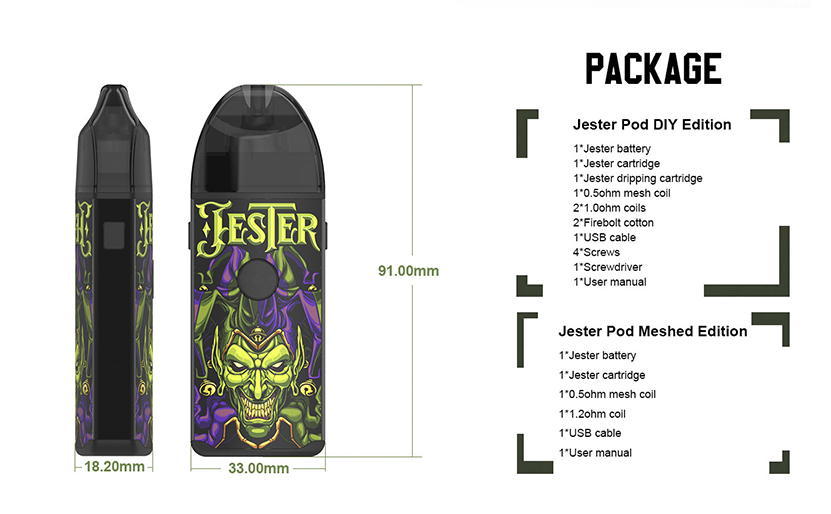 Vapefly Jester Kit package