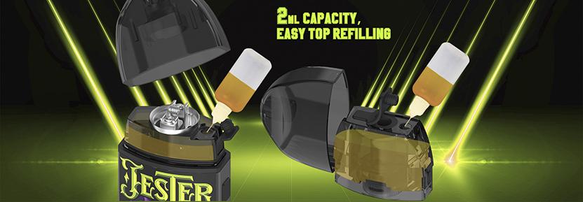Vapefly Jester Pod Starter Kit pod capacity