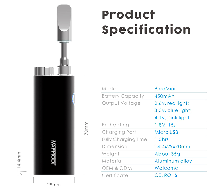 Vapmod Pico Mini Vaporizer Kit