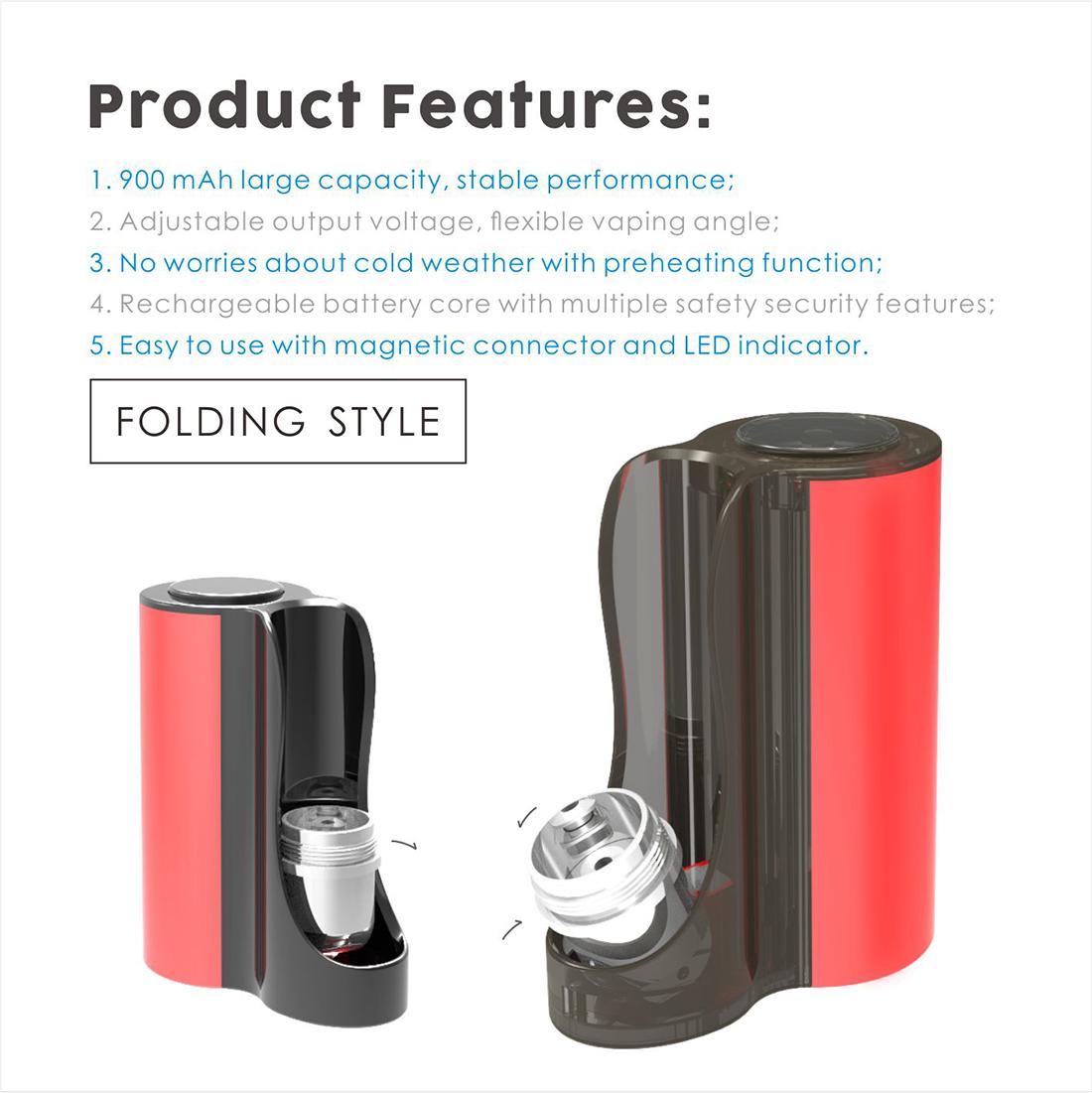 Vapmod Pipe 710 Starter Kit Feature