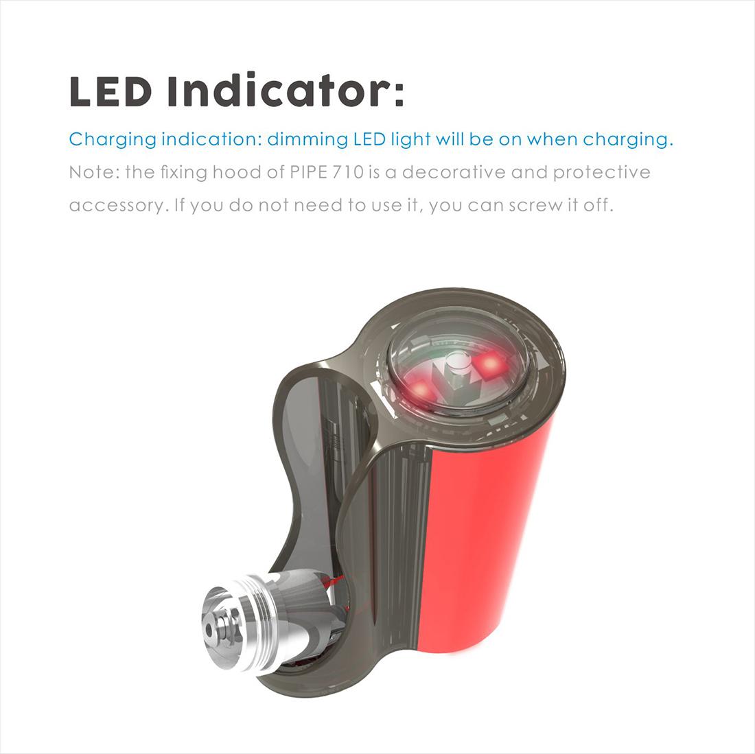 Vapmod Pipe 710 Starter Kit LED