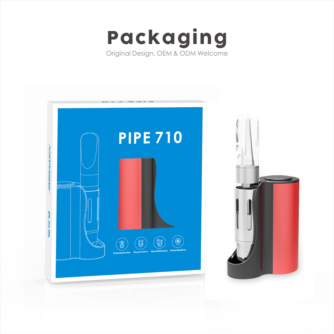 Vapmod Pipe 710 Starter Kit Package