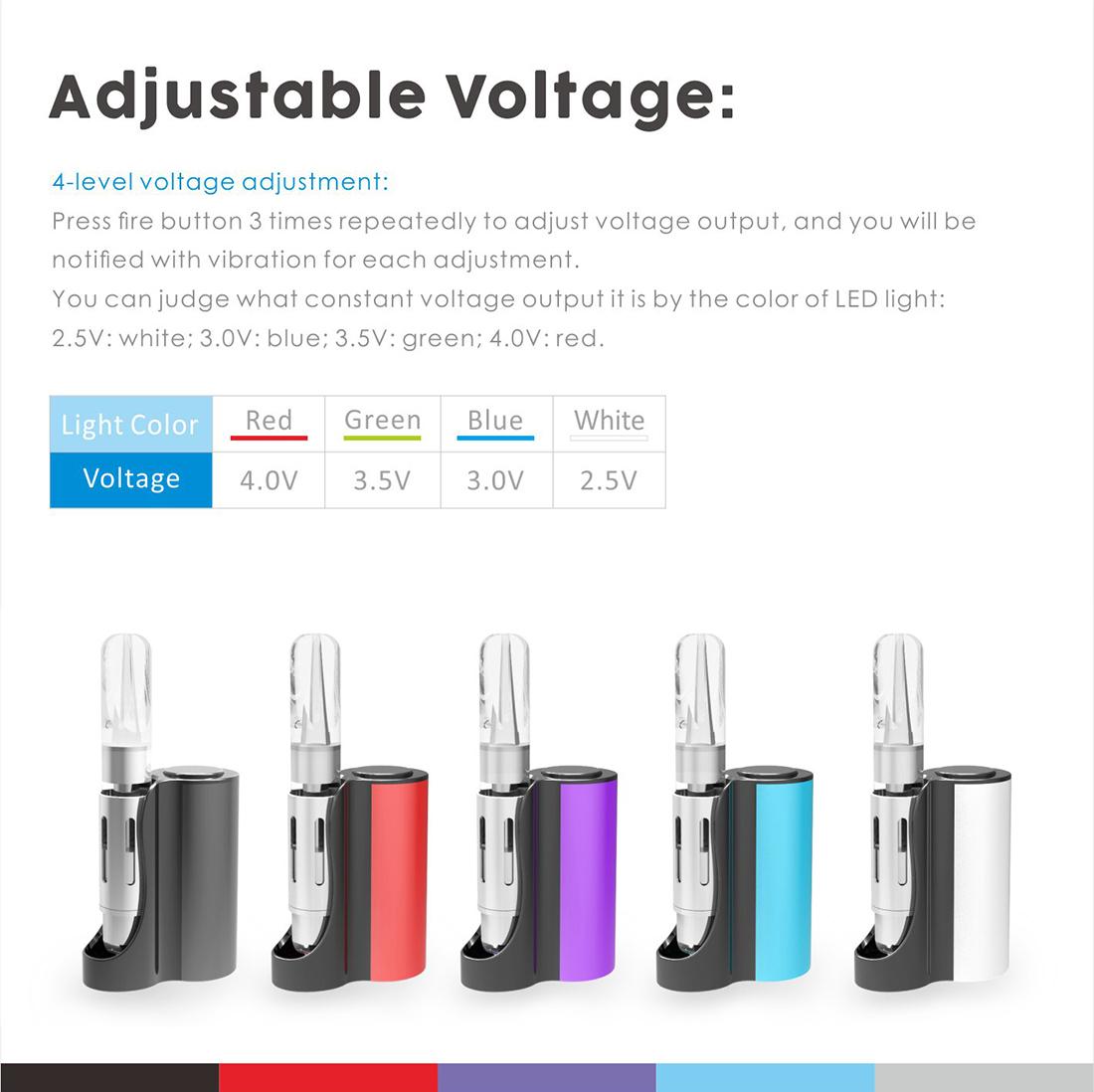 Vapmod Pipe 710 Starter Kit Voltage