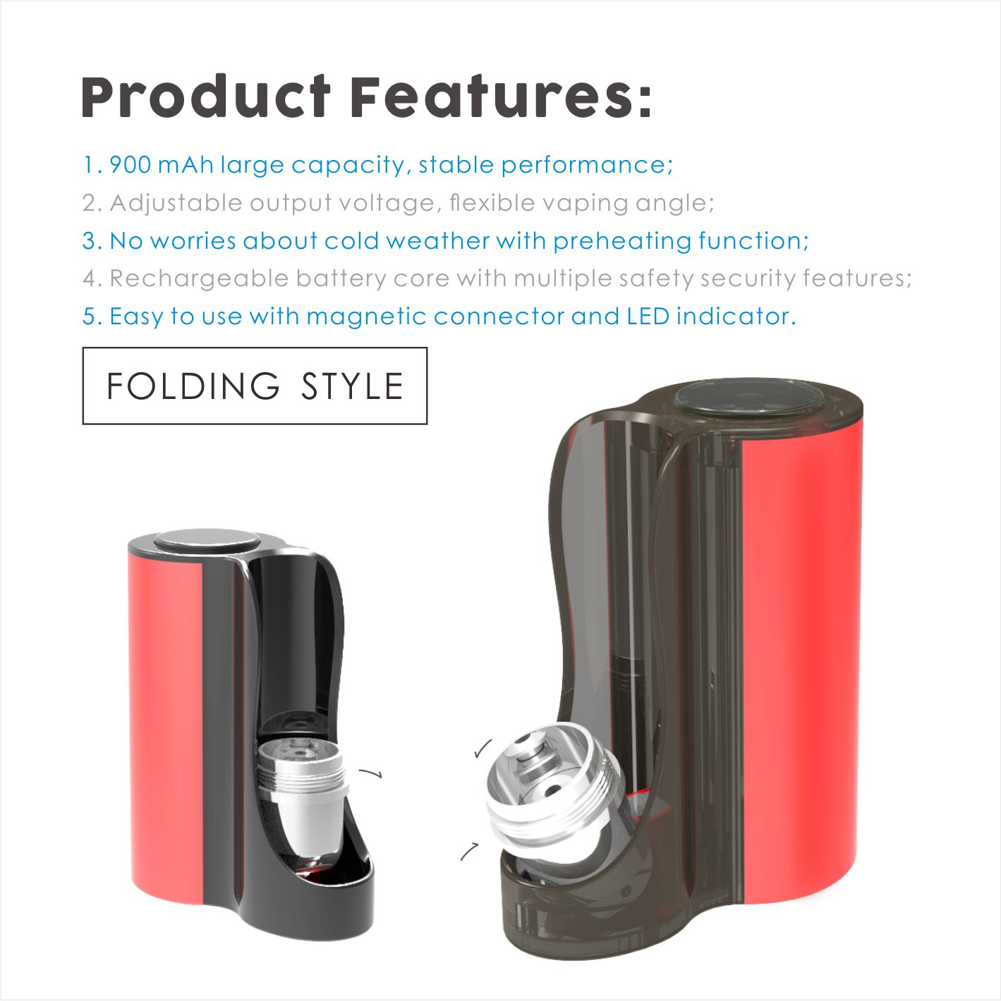 Vapmod Pipe 710 Vape Mod