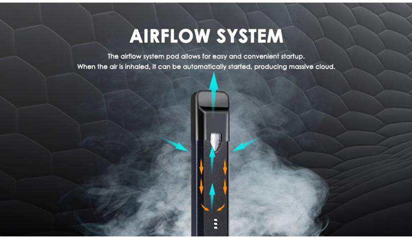 Vapor Storm Stalker 2 Pod Vape Kit Airflow System