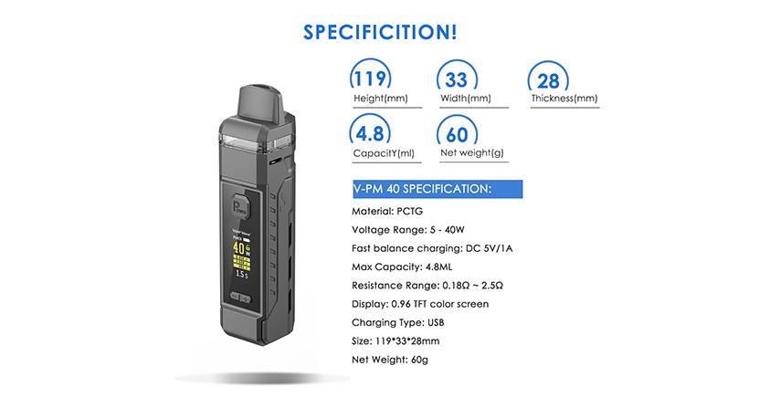 V-PM 40 Kit Parameter