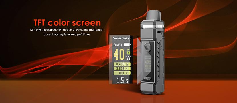Vapor Storm V-PM 40 Pod Kit Screen