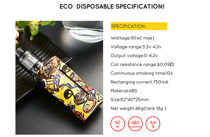 Vapor Storm ECO Disposable Tank Kit Features 02
