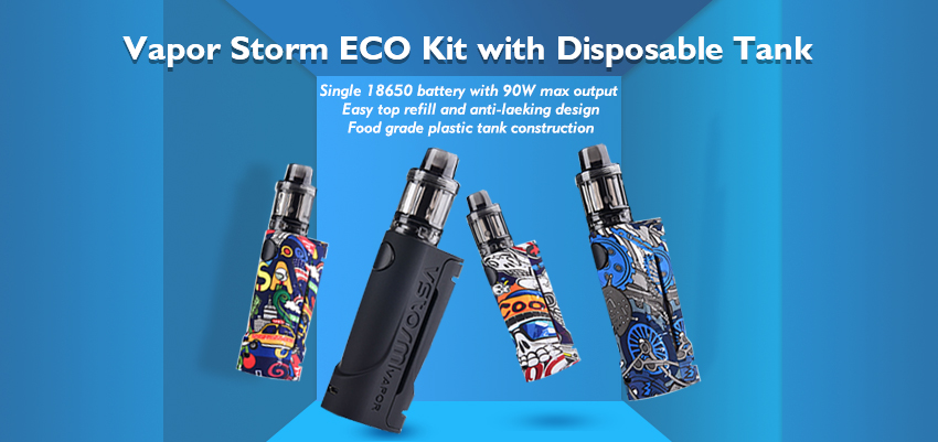 Vapor Storm ECO Kit with Disposable Tank Banner