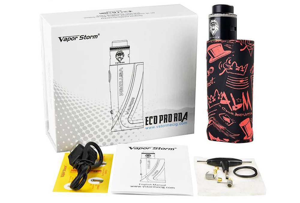 Vapor Storm ECO Pro Kit with Lion RDA Package
