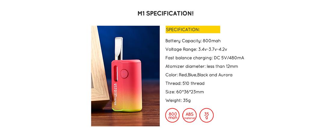 Vapor Storm M1 Vape Kit Specification