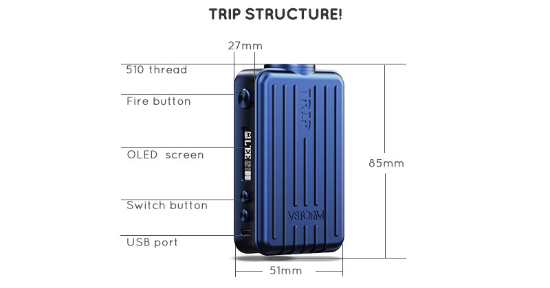 Trip 200W Box Mod Features 06