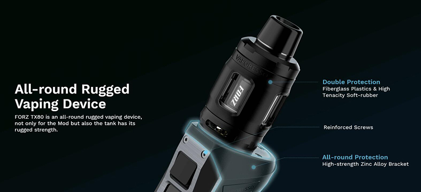 Vaporesso FORZ TX80 Mod Kit Protections 2