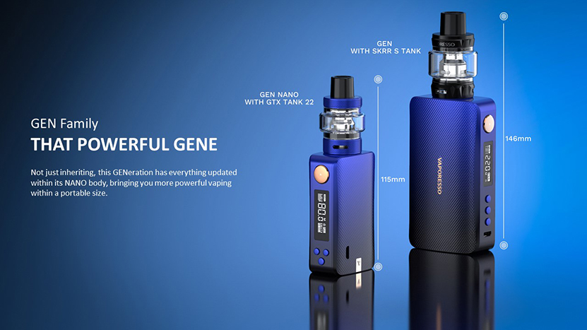 GEN NANO TC Box Mod Kit Size