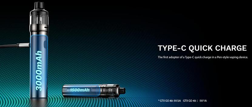 GTX GO 80 Pen Kit Quick Charging