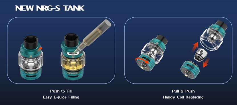 Vaporesso Gen S TC Box Mod Kit NRG-S Tank