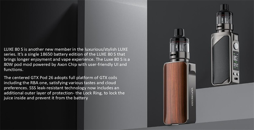 Vaporesso LUXE 80 S Kit Feature 5