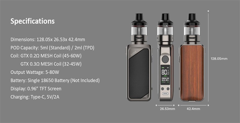 Vaporesso LUXE 80 S Kit Feature 10