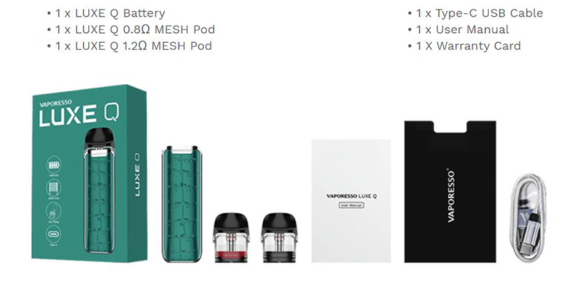 Vaporesso LUXE Q Kit Package