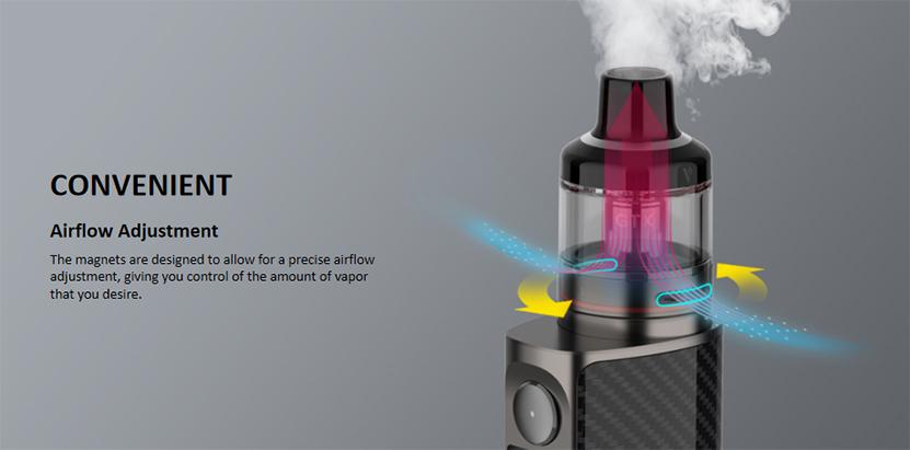 Vaporesso Luxe 80 Pod Mod Kit airflow