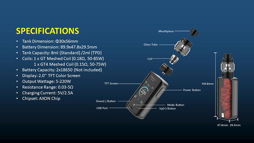 Luxe II Kit Specification