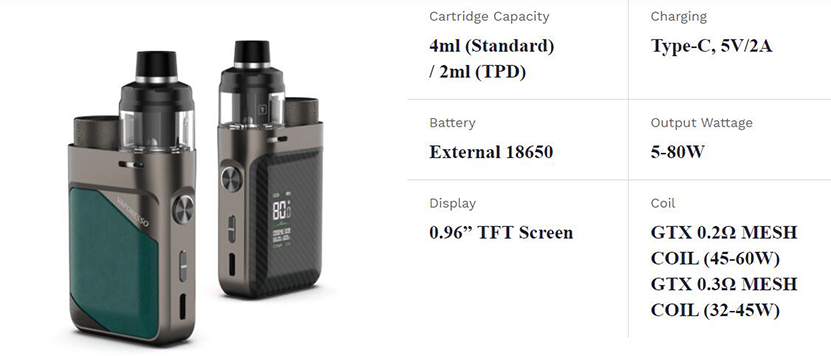 Vaporesso Swag PX80 Kit Feature 9