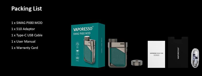 Vaporesso Swag PX80 Mod 80W Box Mod single 18650