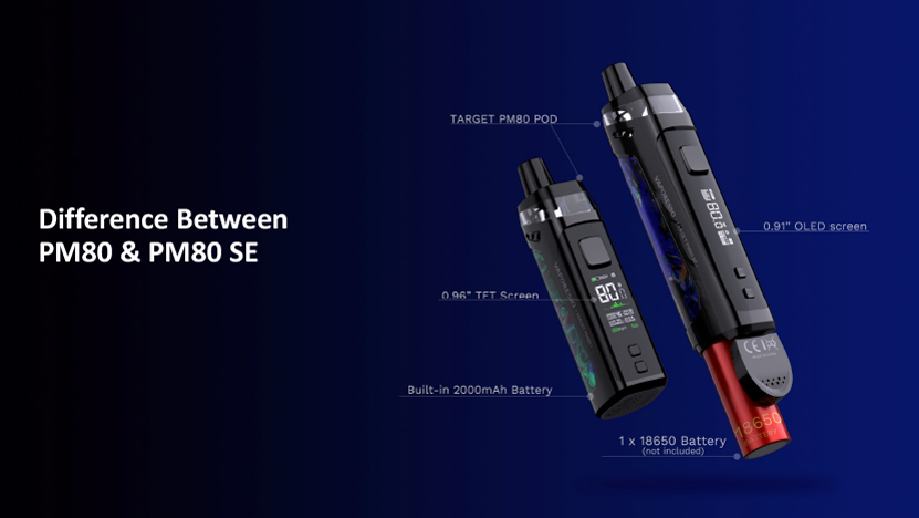 Target PM80 SE Pod Mod Kit Difference Between PM80 and PM80 SE