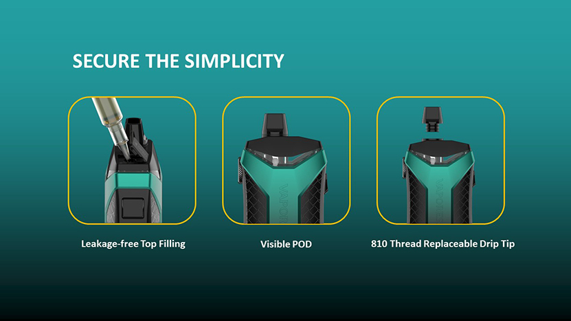 Vaporesso XIRON Pod System Kit Pod Features