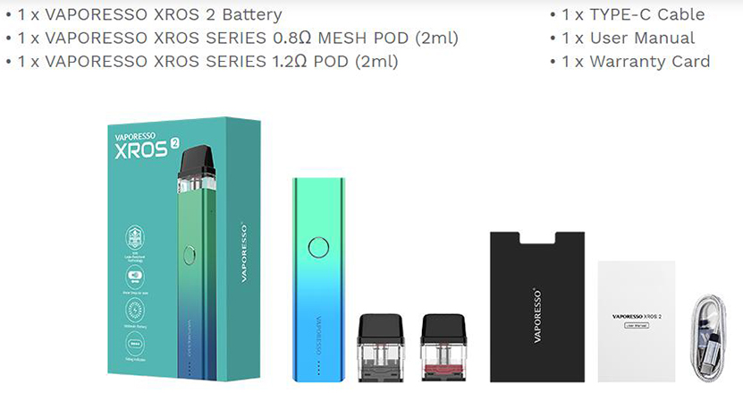 Vaporesso XROS 2 Kit Package