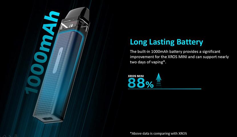 XROS Mini Kit 1000mAh battery capacity