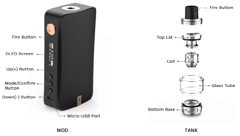 Vaporesso GEN 220W Vape Kit Features 04