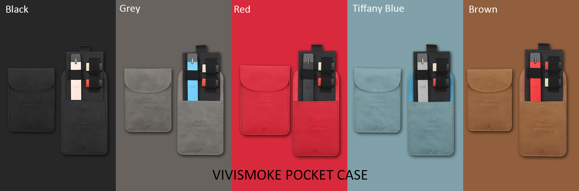 Vivismoke Pocket Case 5 Colors