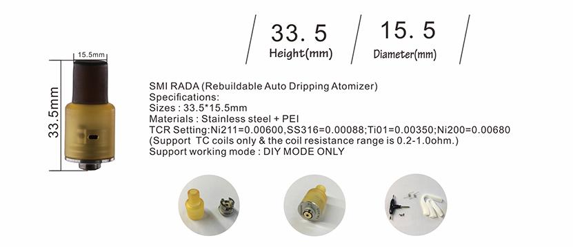Vsticking SMI RADA RDA Parameters