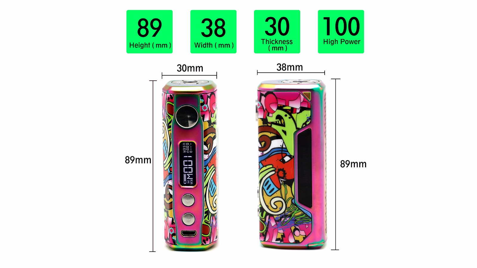 Vzone Cultura 100W MOD Features 2