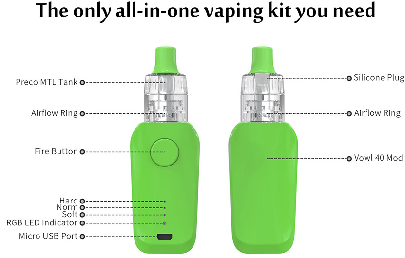 Vowl 40W MTL Starter Kit Features 02