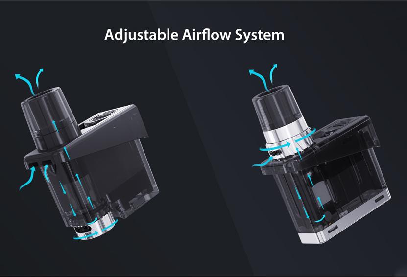 Wismec Preva Standard Cartridge Adjustable Airflow System