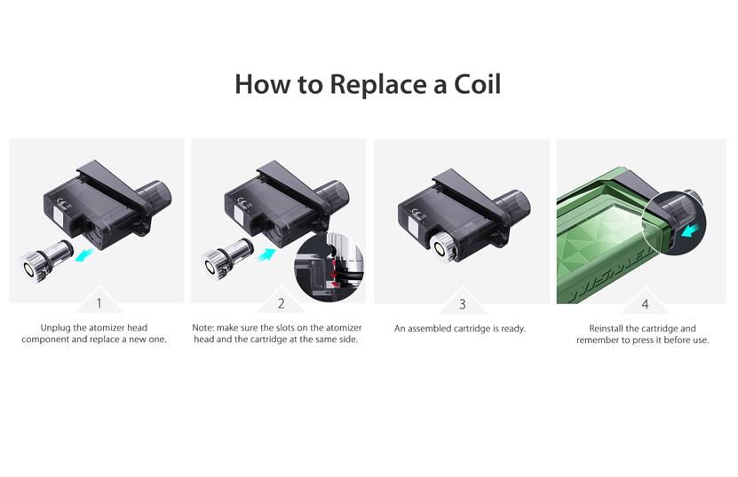 Wismec Preva Standard Cartridge Coil Replacement