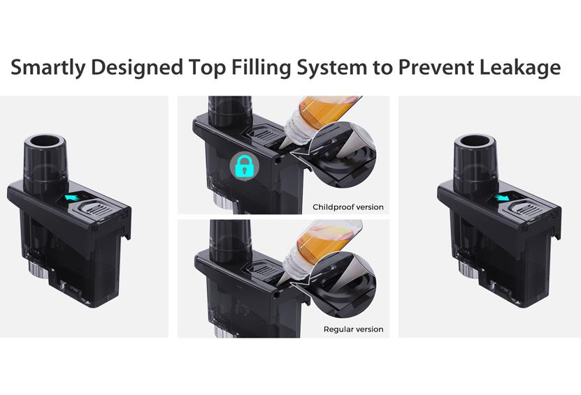 Wismec Preva Standard Cartridge Top Filling System