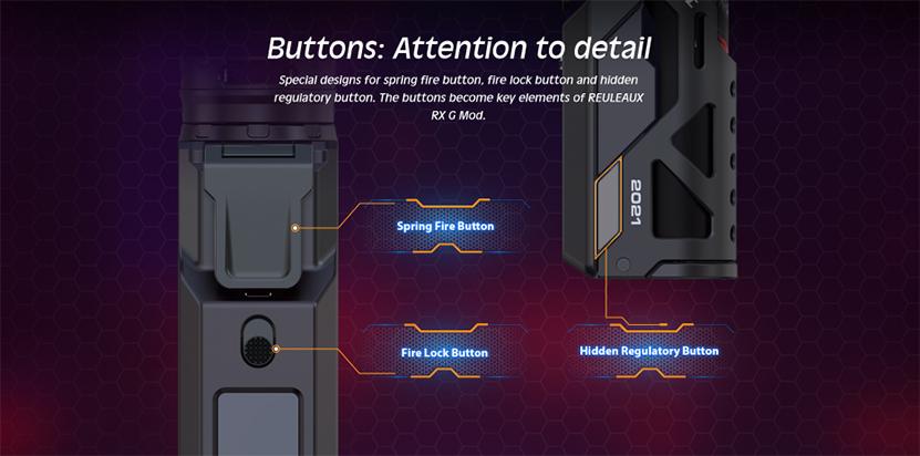 Wismec Reuleaux RX G Kit Button
