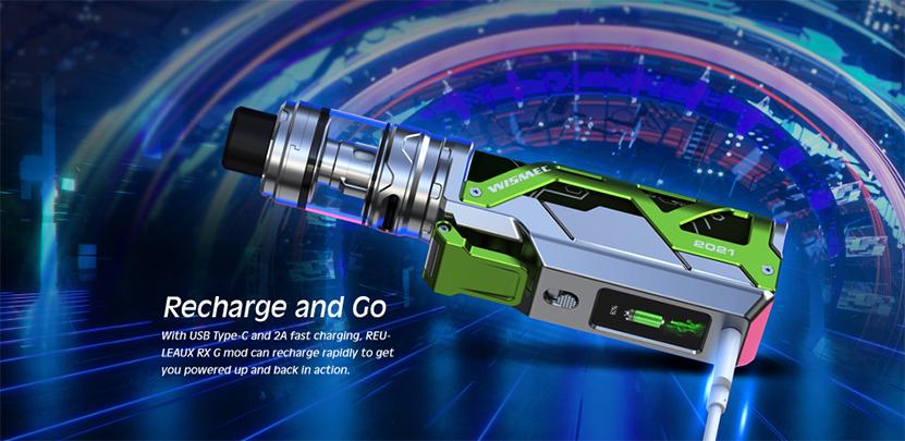 Wismec Reuleaux RX G Kit Charging