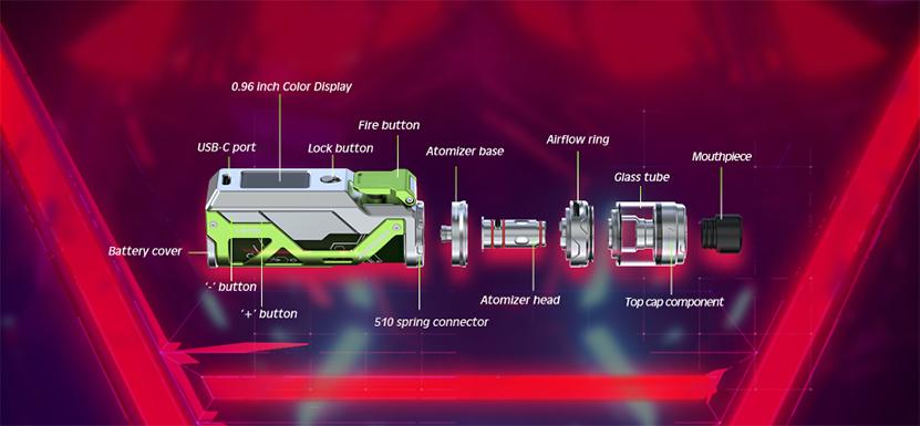 Wismec Reuleaux RX G Kit Components